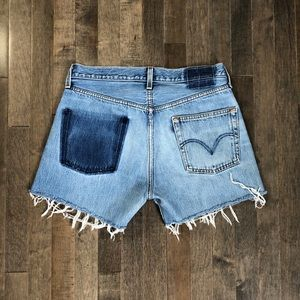 Vintage custom Levi's 501 cut off jean shorts!!!